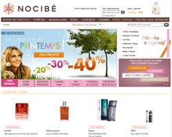 Page d'accueil de Nocibe