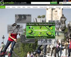 Page d'accueil de Nomade Shop