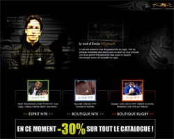 Page d'accueil de Ntamack
