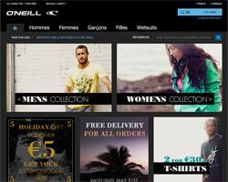 Page d'accueil de O'Neill