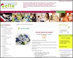 Page d'accueil de Oclio