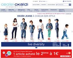 Page d'accueil de Okaïdi