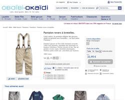 Une fiche produit de Okaïdi