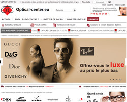 Page d'accueil de Optical-Center