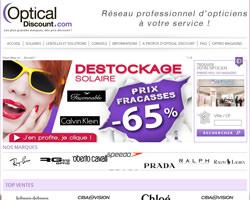 Page d'accueil de Optical Discount