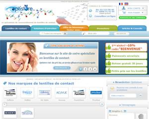 Page d'accueil de Optistore