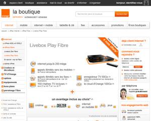 Une fiche produit de Orange Internet