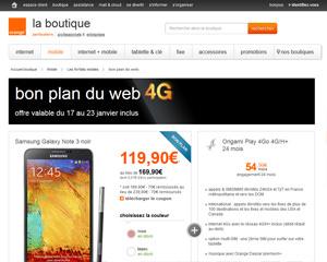 Une fiche produit de Orange Mobile