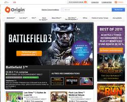 Page d'accueil de Origin