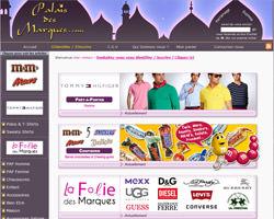 Page d'accueil de Palais des Marques