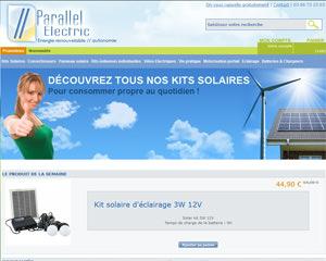 Page d'accueil de Parallel Electric