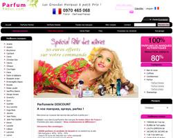 Page d'accueil de Parfumreduc