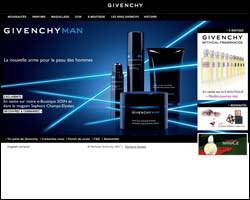 Page d'accueil de Parfums Givenchy