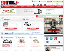 Page d'accueil de ParuVendu