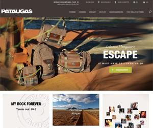 Page d'accueil de Pataugas