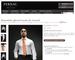 Une fiche produit de Pernac Paris