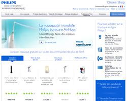Page d'accueil de Philips