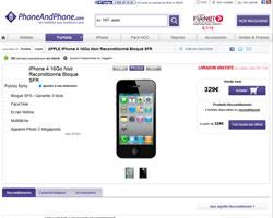 Une fiche produit de Phone And Phone