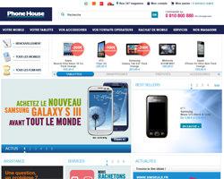 Page d'accueil de Phone House