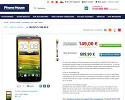Une fiche produit de Phone House
