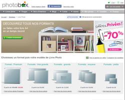 Une fiche produit de PhotoBox