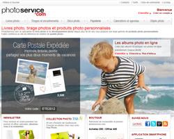 Page d'accueil de Photoservice