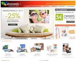Page d'accueil de Photoweb