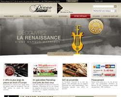 Page d'accueil de Piano Shop