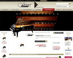Une fiche produit de Piano Shop