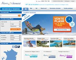 Page d'accueil de Pierre et Vacances