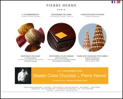 Page d'accueil de Pierre Hermé