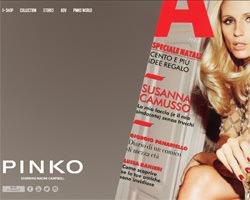 Page d'accueil de Pinko