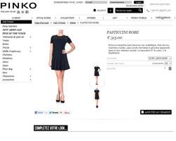 Une fiche produit de Pinko