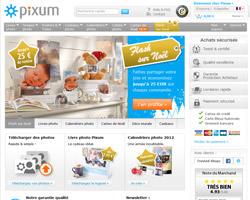 Page d'accueil de Pixum