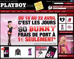 Page d'accueil de Playboy