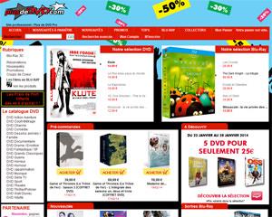 Page d'accueil de Plus de DVD