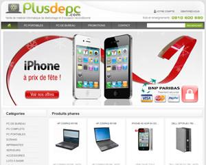 Page d'accueil de Plus de PC