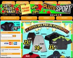 Page d'accueil de Plutosport
