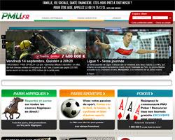 Page d'accueil de PMU