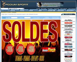 Page d'accueil de Podium Sport