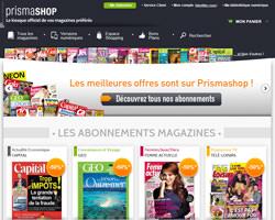 Page d'accueil de Prisma Shop