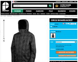 Une fiche produit de Protest Boardwear