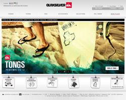 Page d'accueil de Quiksilver