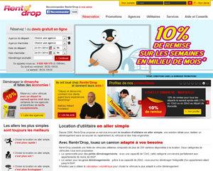 Page d'accueil de Rentn'Drop