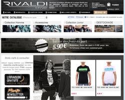 Page d'accueil de Rivaldi