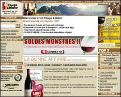 Page d'accueil de RougeBlanc