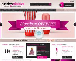 Page d'accueil de Rue des plaisirs