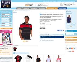 Une fiche produit de Rugby Shop