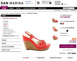 Une fiche produit de San Marina