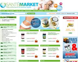Page d'accueil de Santé Market